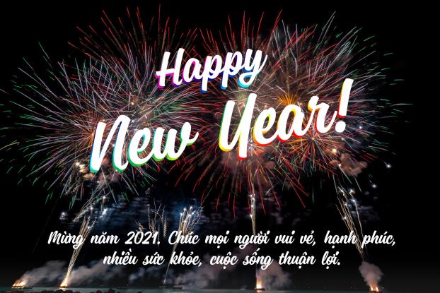 Tuyển tập thiệp chúc Tết Dương lịch và lời chúc mừng năm mới 2021 đep, ýnghĩa