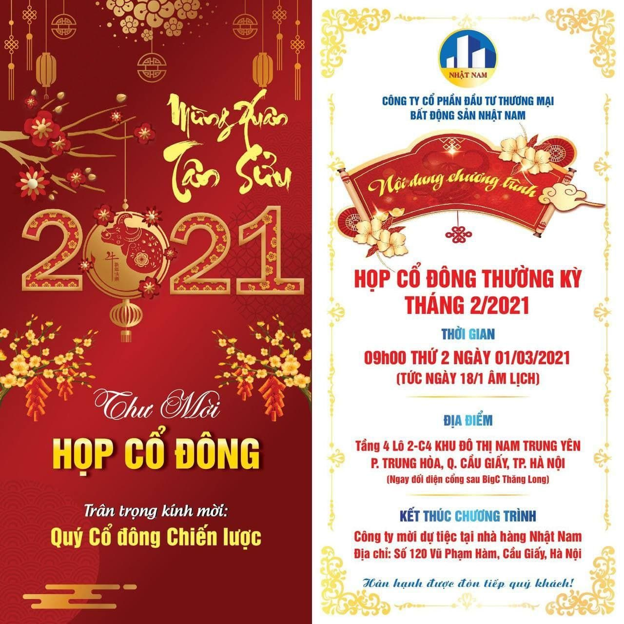Thu Moi Hop Co Dong Chien Luoc Thang 2 Nam 2021